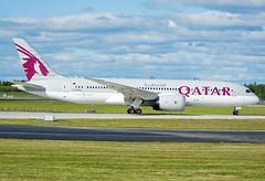 A7-BCQ (Skidmarks_1) Tags: norway airport aircraft aviation airliners osl qatar engm boeing787 oslogardermoenairport a7bcq