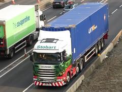 H2301 - PO15 UOR (Cammies Transport Photography) Tags: truck bernadette lorry louise eddie flyover scania esl a90 inverkeithing hillfield uor stobart eddiestobart r450 po15 h2301 po15uor