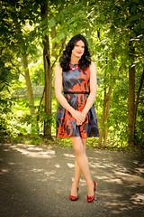 Red and Blue 3 (Hannah McKnight) Tags: tgirl transgender transgirl model crossdress crossdresser stilettos