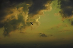 Evening Sky (Maciej Lemanik) Tags: sunset sky clouds helicopter