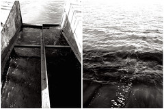 don't be afraid of deep water. (splyusha) Tags: blackandwhite bw window water contrast waves walk waters bnw iphone5 iphonephoto iphonephotography