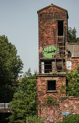 Tower Of Strength [Explored]  (Kel1y J) Tags: wall graffiti stokeontrent oldbuilding dilapidated trentandmerseycanal hww happywallwednesday newwallwednesday