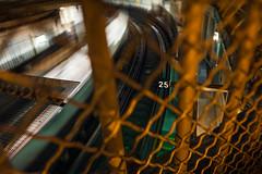 Vingt Cinq (Bastille Metro Tilt-Shift Long Exposure), Paris (flatworldsedge) Tags: light urban white blur paris train fence long exposure metro shift 25 pollution transit balance mass tilt bastille vingt cinq