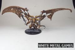 Rauthuros 1 (whitemetalgames.com) Tags: red orange white green grey reaper bat large dragons pit gargoyle toad demon huge devil medium winged fiend dungeons pathfinder balor