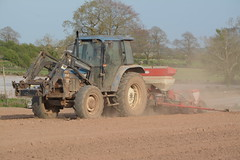 New Holland Ford 6640 Tractor with a Kverneland Accord Optima 6 Row Maize Planter (Shane Casey CK25) Tags: county new blue ireland horse irish 6 plant tractor holland ford field set work accord pull hp nikon traktor power earth farm cork farming working cereal grow machine ground nh row machinery soil dirt till crop crops growing farmer agriculture dust setting planter cereals pulling contractor maize planting sow drill tracteur trator fermoy horsepower tilling drilling optima trekker sowing cnh agri tillage cignik 6640 kverneland traktori d7100