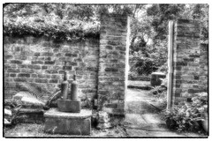 The Gibberd Garden (nigdawphotography) Tags: blackandwhite sculpture plant tree texture monochrome garden photo outdoor border foliage infrared harlow serene sir essex sculptures frederick gibberd