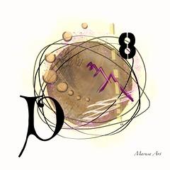 Vintage (marusaart) Tags: pink brown abstract black art digital vintage painting circle artist purple digitalart 8 symbolic