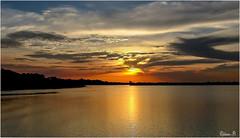 Sunset over the Amazon river . (Herb) Tags: sunset brazil brasil river manaus amazonas brsil amazonie amazone amazonriver riosolimes roamazonas