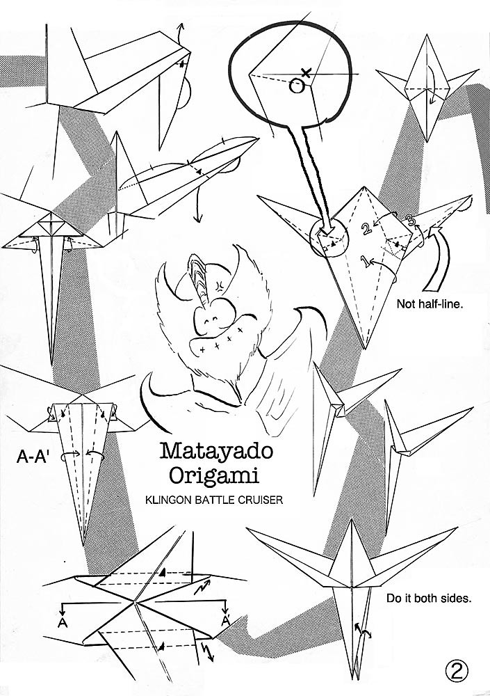 Klingon Battle Cruiser Origami Diagram Easy Version 2 Matayado Titi Tags Enterprise