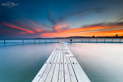 Narrabeen Sunset (Bruce_Hood) Tags: ocean sunset seascape beach water pool clouds sydney australia nsw newsouthwales northernbeaches northnarrabeen