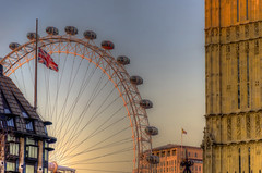 Sunset in London (1000k views!) (Fil.ippo) Tags: sunset urban london eye big tramonto cityscape ben londra filippo citt 1000k flickrdiamond d7000