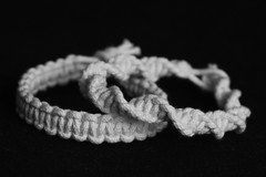 New macrame bracelets (Cobra_11) Tags: blackandwhite bw white black armband canon cord handmade crafts arts rope knot bracelet string knots canoneos beyaz schwarz ef50mmf18ii macrame pulsera makrame selbstgemacht artsandcrafts knotting weis handgemacht siyah manualidad ef50mm118ii cobraknot canoneos450d digitalrebelxsi cobrastitch