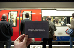 (_JamesDavies) Tags: london work underground quote tube hell commute manicstreetpreachers routine wernerherzog