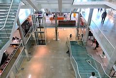 Carré d'Art. Escaliers. II. 12.04.2012. (BlueSuddenSubway) Tags: escaliers stairways carrédart picturesfromnemausus