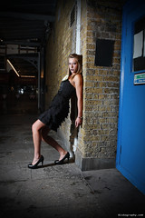 City Chick (Biscuits_yum) Tags: london fashion model shoot nightshoot westend filmnoir stagedoor theatreland speedlite offcameraflash strobist citychick