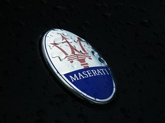 The trident (arthur doyle photography) Tags: dublin macro car finepix fujifilm supercar maserati sportscar carspotting badge2 hs10 worldcars