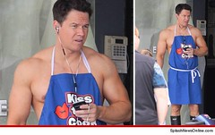 "Mark Wahlberg on the set of ""Pain and Gai..."
