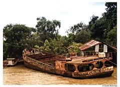 Defeat / Derrota (Claudio.Ar) Tags: old color abandoned water argentina boat topf50 agua buenosaires barco decay sony ruin rusty tigre dsc decadence urbex h9 claudioar claudiomufarrege rememberthatmomentlevel1