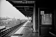Daly City (c_kreature) Tags: sf sanfrancisco california ca blackandwhite bw train subway blackwhite publictransit bart platform ubahn masstransit dalycity dalycitystation canon5dmkii francodesoto