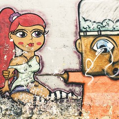 [Day 111/365] love on walls (Diego Viana Gomes) Tags: sea brazil brasil photography seaside orla bra bahia salvador ba ssa sojoo dvg pinel soteropolitano soteropoli portodobarra