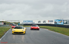 Italia A Zandvoort (Sonnyvd) Tags: road old blue red white black milan roma car rain yellow race grey