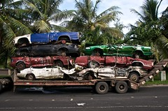 Guam Car Wreck Removal n  3 (heritagefutures) Tags: car metal landscape automobile cleanup safety health recycling seen scrap pulling guam wrecks micronesia semitrailer inarajan osha merizio