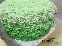 Rosette Cake (vanillabox) Tags: green cake 5 layer colored multi