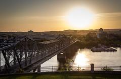 Sunset Across the River (Darren Keast) Tags: bridge sunset ontario architecture river quebec ottawa gatineau
