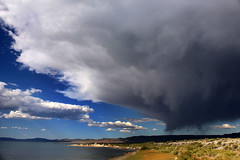 Monsoon over Mono (bertdennisonphotography) Tags: california lake seascape storm nature clouds canon landscape monsoon monolake monocounty
