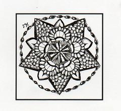 Zendala Dare #6 A (ronniesz) Tags: art pen ink dare doodles zia mandela tangles zentangle zendala