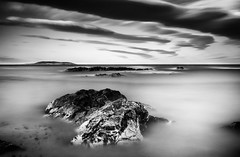 Cloud Waves (Ger208k) Tags: longexposure ireland blackandwhite dublin mist seascape clouds rocks tide nd malahide bigstopper gerardmcgrath