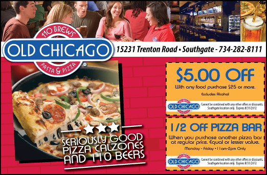 Old chicago coupons retailmenot
