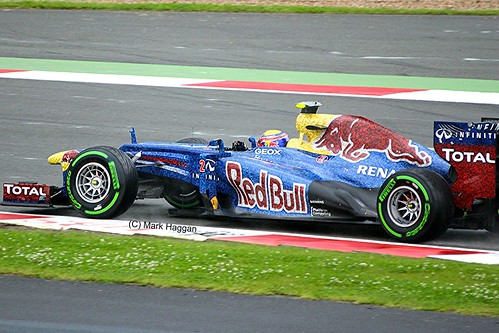 Mark Webber in his Red Bull Racing F1 car at Silverstone