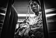 Embarking/Disembarking (In Transit/Beijing) (Daan L) Tags: china street city people urban white black public monochrome digital mono noir candid 4 transport chinese beijing commute metropolis gr publictransport chinois schwartz weiss iv blanc ricoh stad peking commuters straat mensen chinees openbaarvervoer absorption intransit pekin vervoer zhongguo grd openbaar metropolism ricohgrdigitaliv daanl
