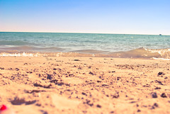 3rd beach this summer! (Sunday) (JulesTURNER) Tags: morning lake fish chicago beach water boats sand downtown pretty michigan sandy sunday chitown roadtrip lakemichigan blueskies windycity divisionstreet noclouds northchicago