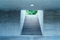 Residence Stairs (jvde) Tags: 3570mmf3345nikkor burnaby d200 coolscan film nikon sfu gimp