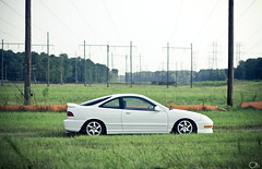 You Will be Missed (Justin Wolfe) Tags: auto white nature field lines car japan honda virginia automobile dof power sold low memories gone powerlines va vehicle yorktown lip telephonepole acura integra blades exhaust jdm typer gsr itr