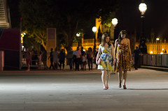Going Home (Pete Rocks) Tags: street girls summer people london thames night river nikon 85mm embankment 2012 d7000