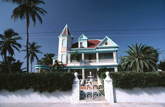 """Southernmost House"" at 1400 Duval Street: Key West, Florida (State Library and Archives of Florida) Tags: florida gates palmtrees hotels keywest inns monroecounty historichomes southernmosthouse statelibraryandarchivesofflorida 1400duvalstreet dalemmcdonaldcollection"