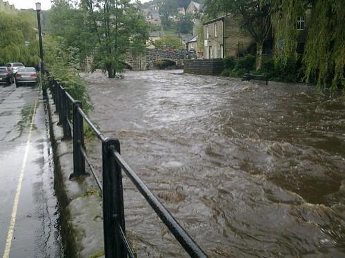 Heavy Rain in Hebden Bridge