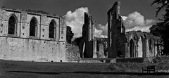 Glastonbury Abbey ruins2 2012 (Daz Smith) Tags: bw white black abbey glastonbury tor