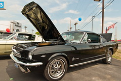 1965 Mustang Fastback (Muncybr) Tags: columbus ohio black ford pony mustang 1965 krieger fastback mustangclubofamerica mustangclubofohio allmustangshow ronmoses photographedbybrianmuncy