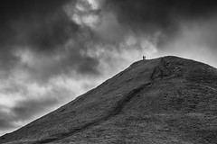Man vs The Elements (Chris Shanks) Tags: chris man silhouette clouds canon landscape photography scotland moody hill dramatic walker elements runners tamron shanks pentlands