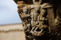 The Expulsion of Adam and Eve from the Garden (SNappa2006) Tags: italy italia capital carving sicily column cloister palermo sicilia chiostro monreale