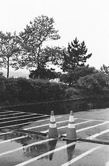 Traffic Cones Near A Boat Launch; Long Island, New York (hogophotoNY) Tags: park blackandwhite bw usa newyork slr film analog 35mm canon us blackwhite tmax3200 unitedstates kodak cone tmax grain scan iso 35mmfilm scanned filmcamera asa grainy launch expired 35 3200 analogphotography trafficcones cones highspeed hispeed filmgrain boatlaunch expiredfilm kodakfilm 3200iso filmphotography 3200asa iie saddlerock canonelaniie filmphoto 3200speedfilm canonfilmcamera analogfilm tmaxfilm canonfilmslr hogo expiredkodakfilm kodak3200film expiredbwfilm hogophoto expired35mmfilm expired35mmkodakfilm canonelaniiecamera