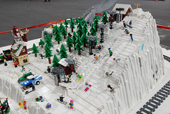 Brikkelauget Layout 81 (L@go) Tags: winter mountain oslo norway layout village lego anniversary arena telenor fornebu bygge landet brikkelauget