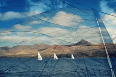 12/52 Afternoon sail (Jak5Bale) Tags: ocean sea composite lanzarote catamaran sail volcanoes canaryislands puertocalero catlanza canonpowershotg12 52weeksof2014 image12of52