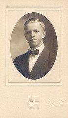 Portrait (Homini:)) Tags: old portrait man sepia found photo swastika young tie german bow
