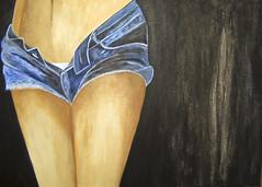 Pintando con acrlicos (ANA NOEMI) Tags: azul pintura acrylicpaint cuadro vaqueros acrilico lienzo ananoemi
