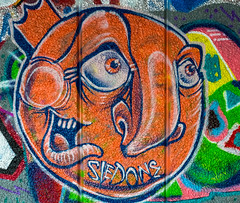 Southbank Skate Park Wall Art (Panasonic GX7 & Panasonic 25mm F1.4 Prime Lens (markdbaynham) Tags: park street camera city uk urban colour london art four prime grafitti f14 capital evil system southbank panasonic skate micro gb metropolis compact csc thirds 25mm m43 mft mirrorless u43 gx7 micro43 m43rd u43rd digitialdepotuk